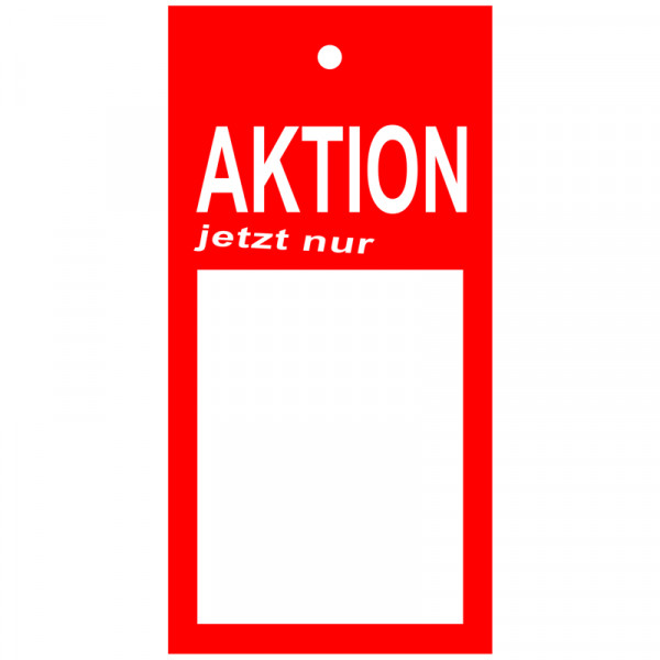 Kartonetiketten - Aktion -