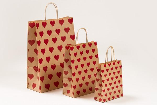 Papiertragetaschen Herzen