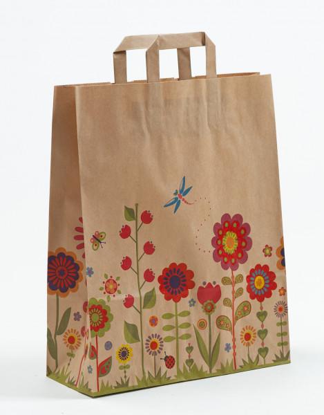 Papiertasche Flora Natur