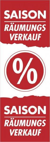 Plakat Saison Räumungsverkauf