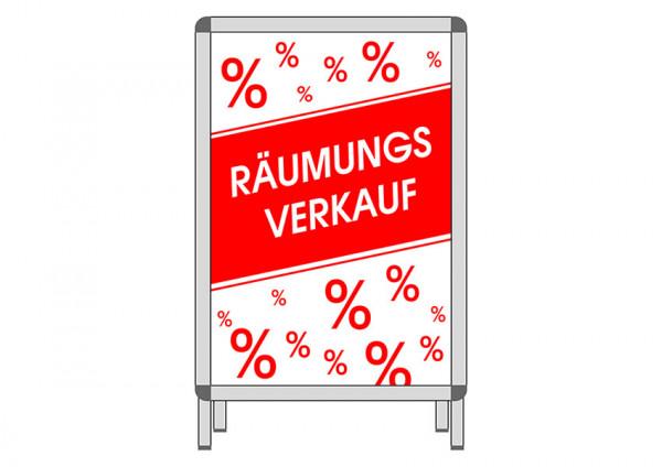 Plakat Räumungsverkauf % Din A 1