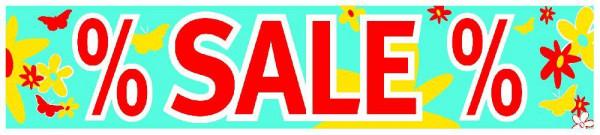 Plakat-Ankleber % Sale