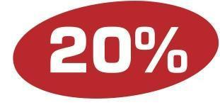 Plakat 20 %