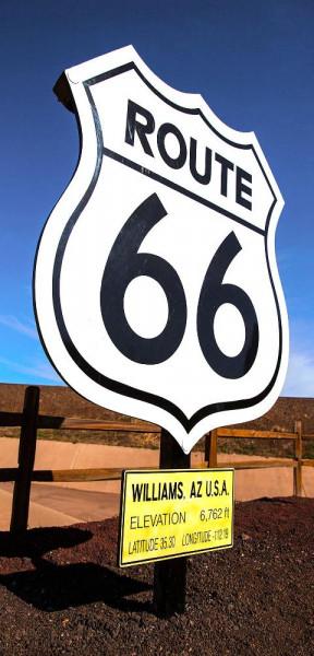 Stoffbanner Route 66