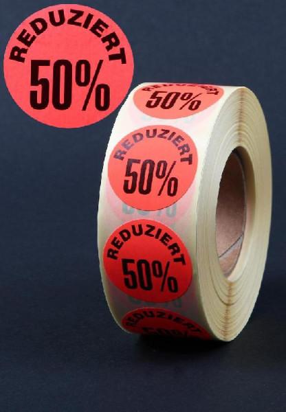 Haftetiketten 50 %