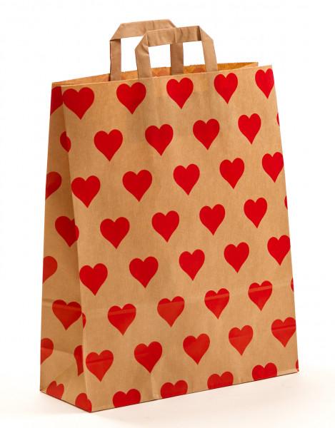 Papiertragetasche Herzen