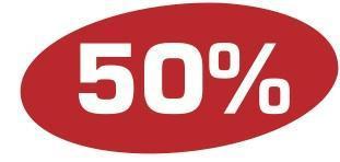 Ankleber 50 %
