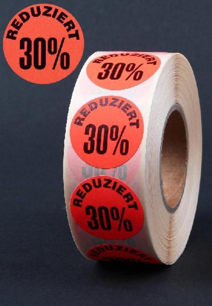 Haftetiketten 30 %