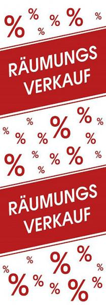 Plakat Räumungsverkauf %
