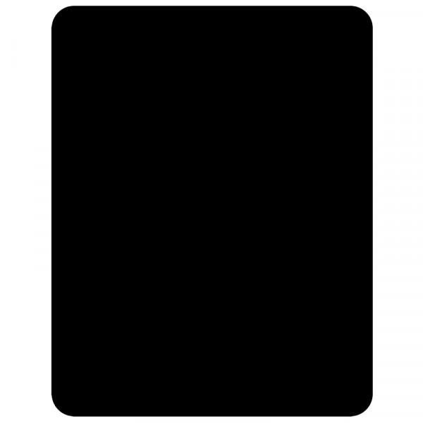 Schwarze Kunststofftafel