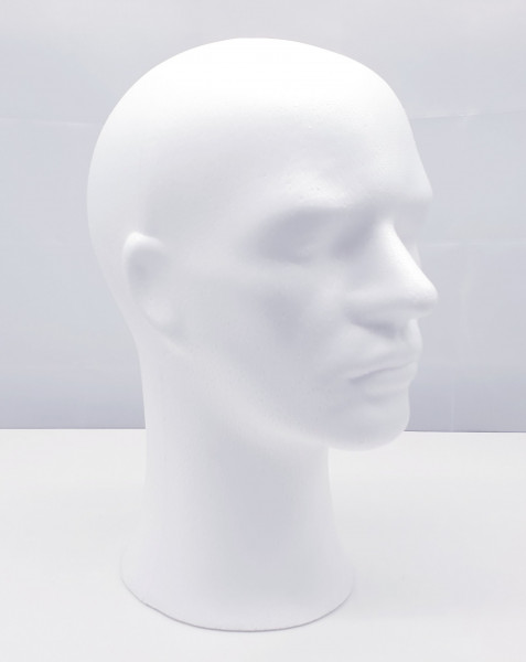 Perückenkopf Phil rohweiss
