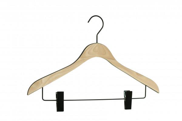 Holzbügel Comfort mit Klammersteg